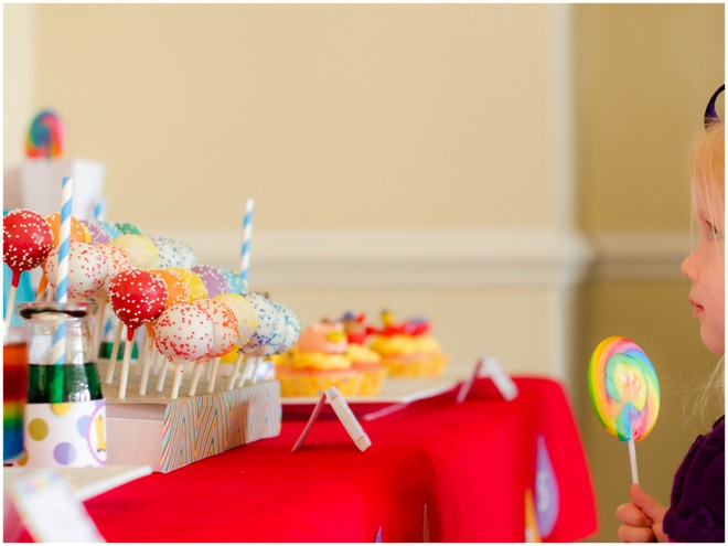 Colorful Raindrops Rainbow Party 5