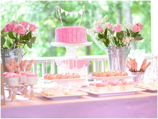 Ruffles and Roses Girl Birthday Party 2