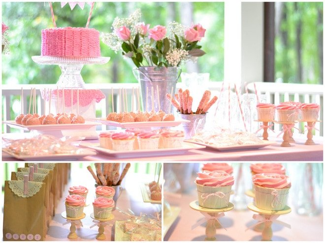 Ruffles and Roses Girl Birthday Party 3