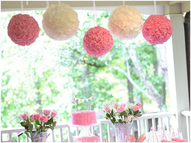 Ruffles and Roses Girl Birthday Party
