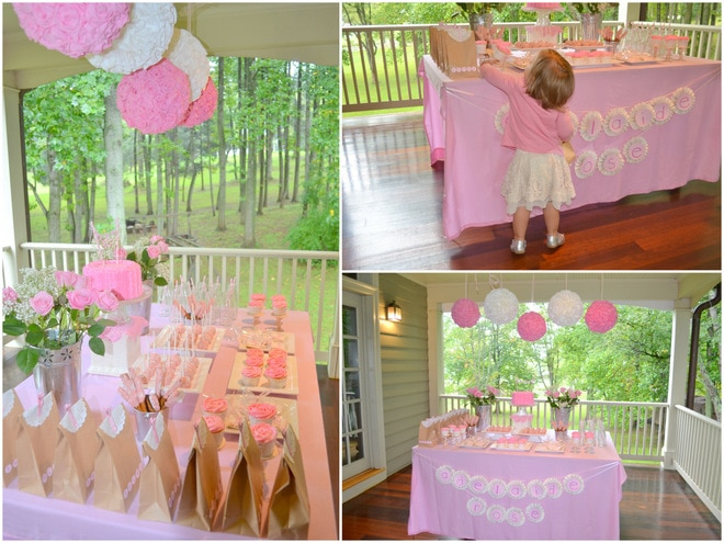 Ruffles and Roses Girl Birthday Party 8