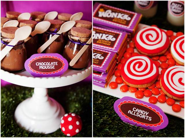 Colorful Willy Wonka Birthday Party!