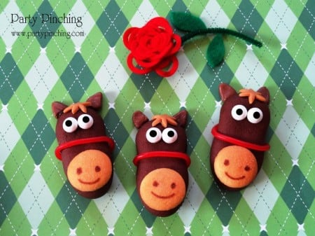 kentucky derby horse cookies