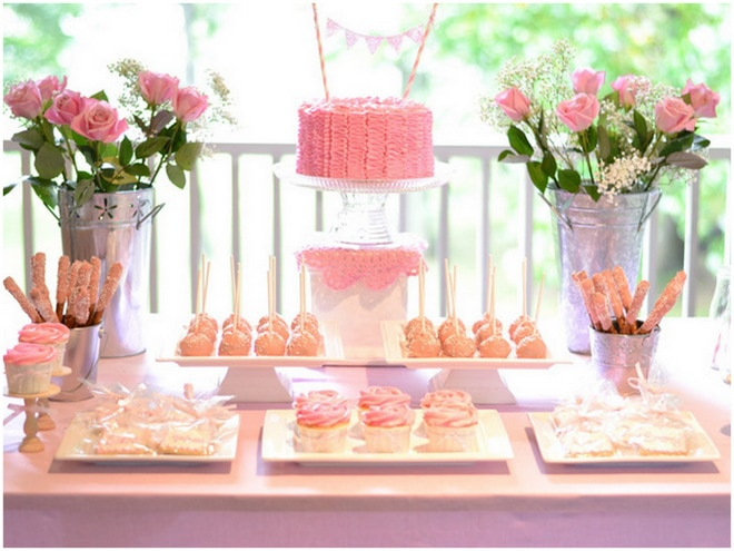 Ruffles and Roses Girl Birthday Party 4