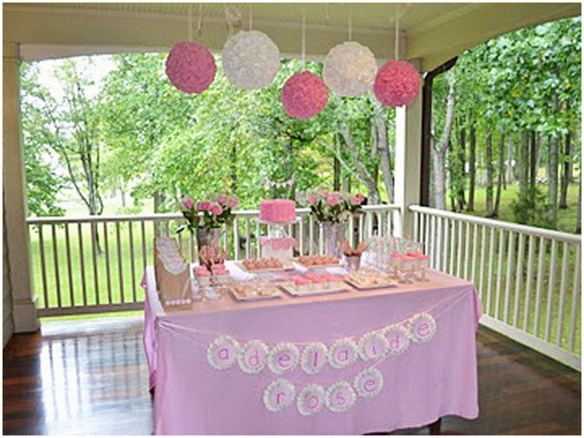 Ruffles and Roses Girl Birthday Party 9