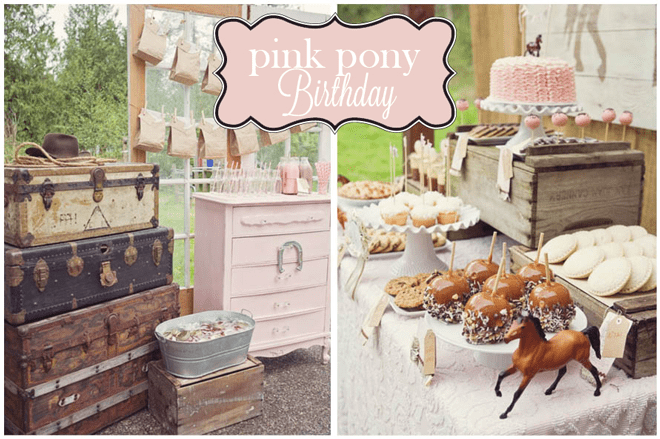 Vintage Pink Pony Birthday Party!