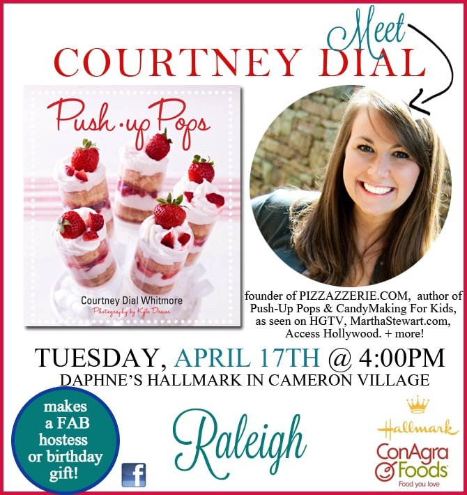 raleigh signing push-up pops by courtney dial whitmore