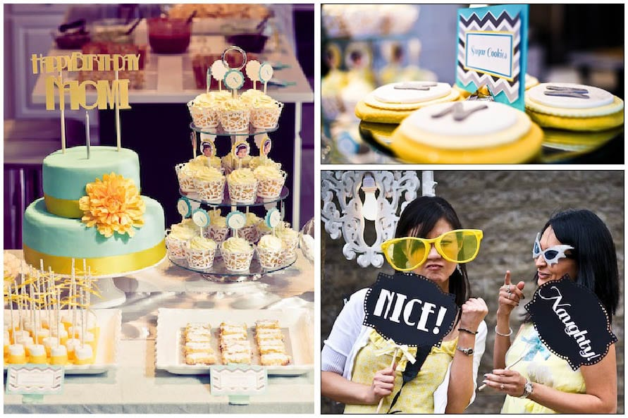 sunshine and bubbles blue and yellow baby shower 6