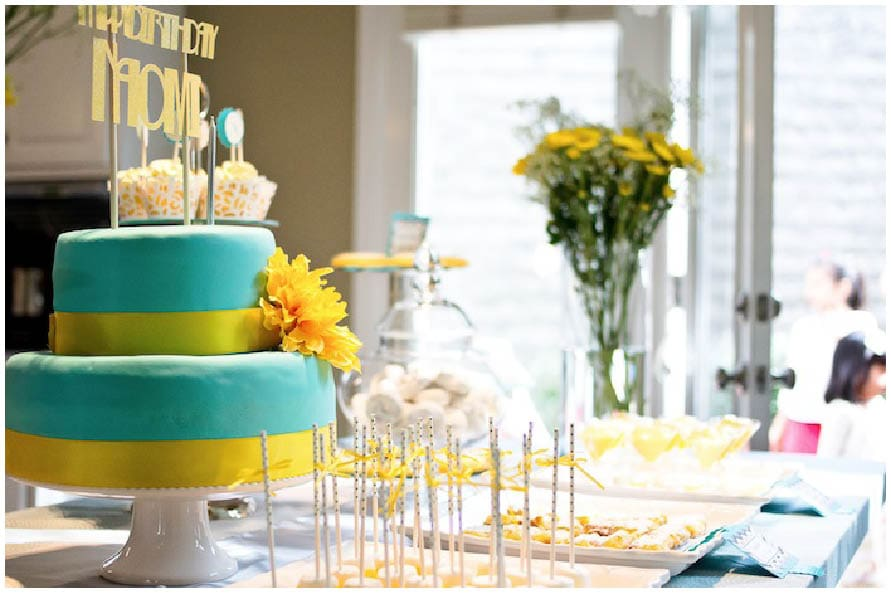 sunshine and bubbles blue and yellow baby shower 8