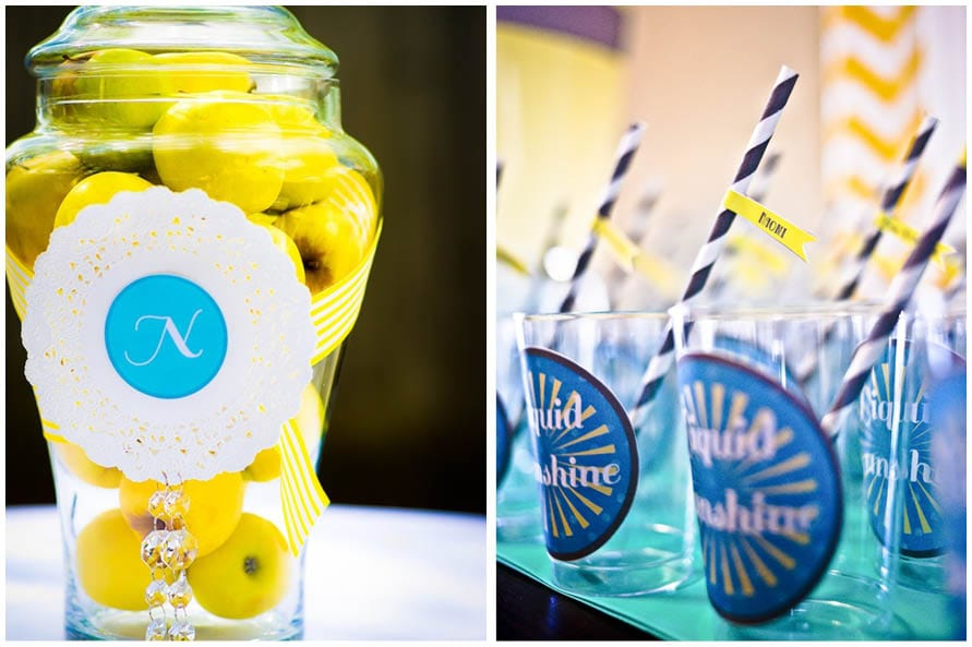 sunshine and bubbles blue and yellow baby shower 2