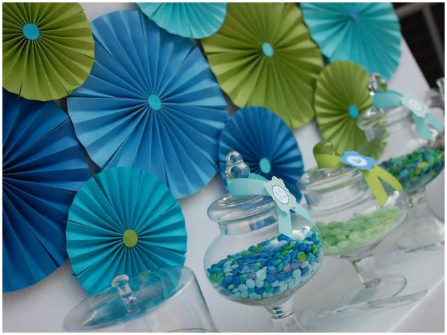 blue and green party backdrop 2