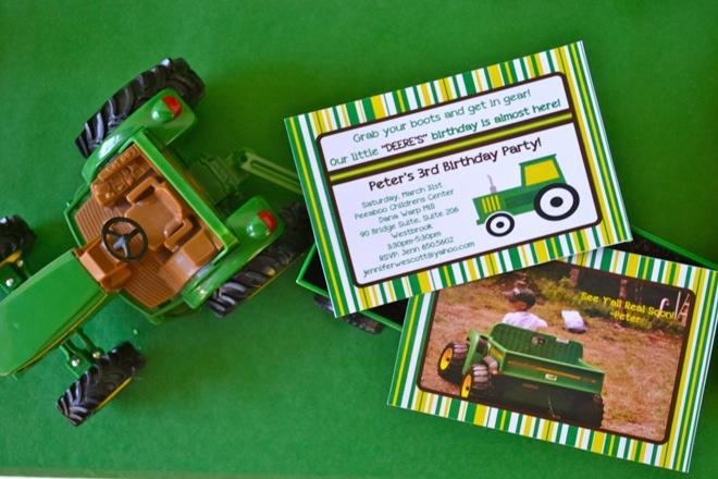 John Deere Tractor Birthday Party
