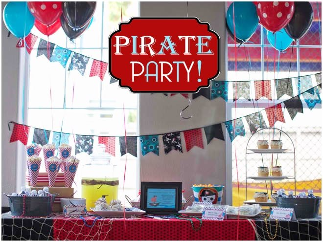 CUTE BOY'S BIRTHDAY PIRATE PARTY