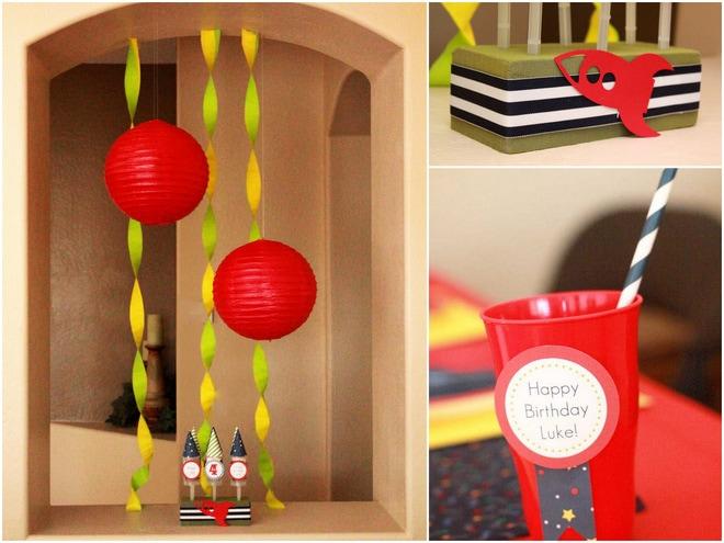 Rocket Ship Birthday Party Decorations
