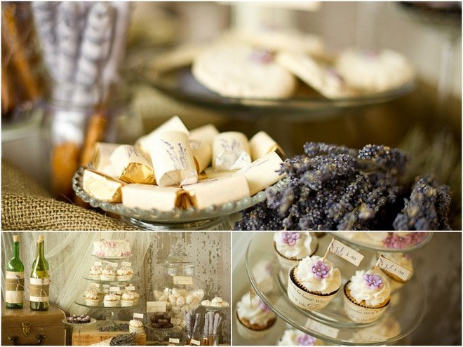 vintage lavender wedding