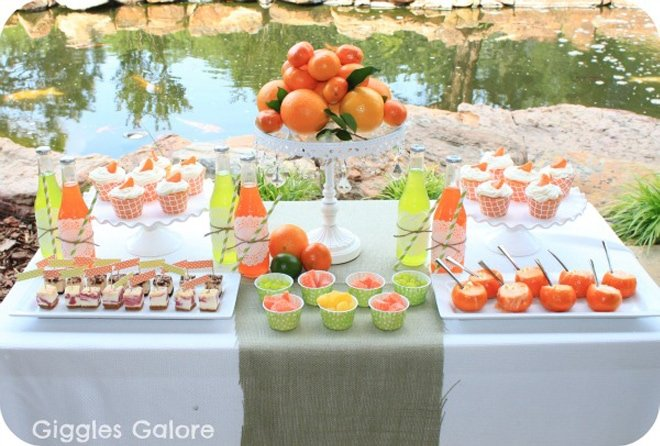 citrus dinner party table