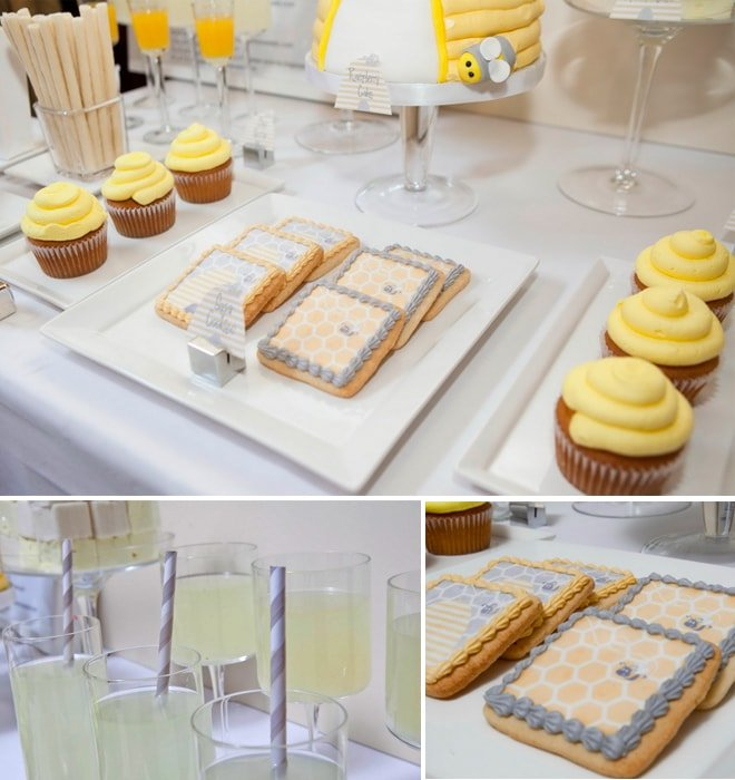 honeybee themed baby shower treats 2