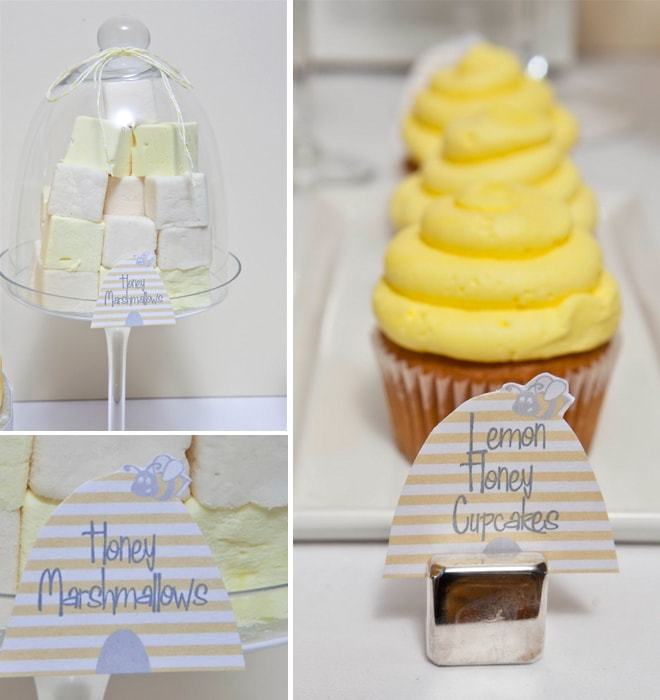 honeybee themed baby shower treats