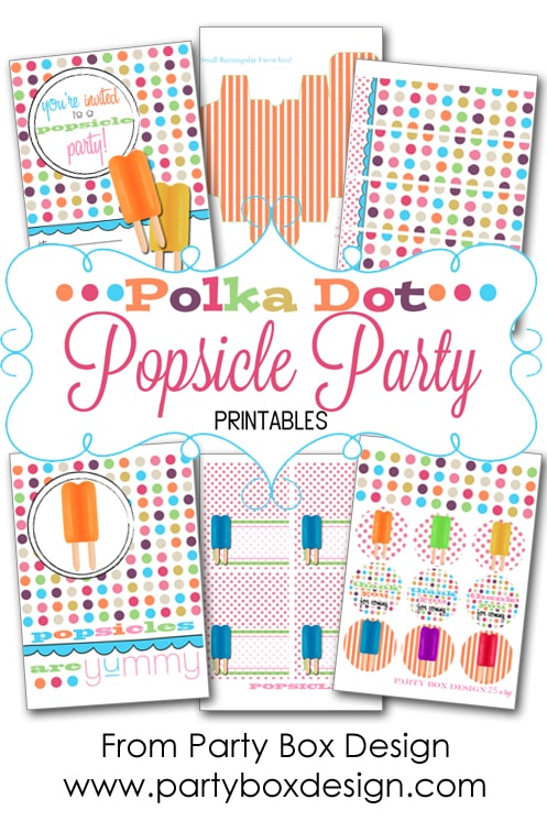 free popsicle party printables
