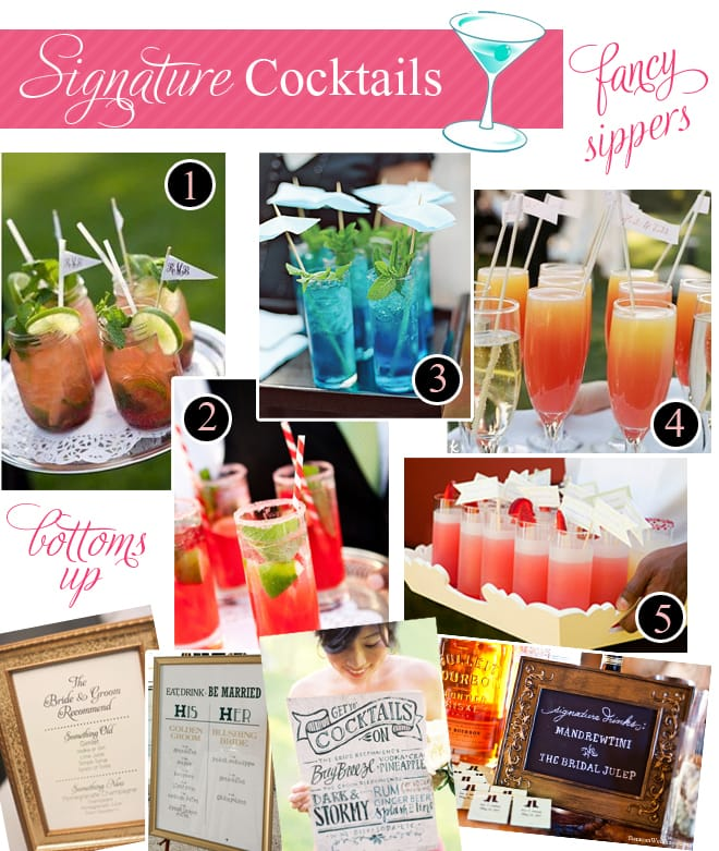 signature cocktails for weddings and events