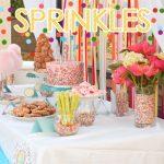 sprinkles themed birthday party