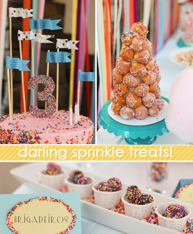 sprinkles themed birthday party 4
