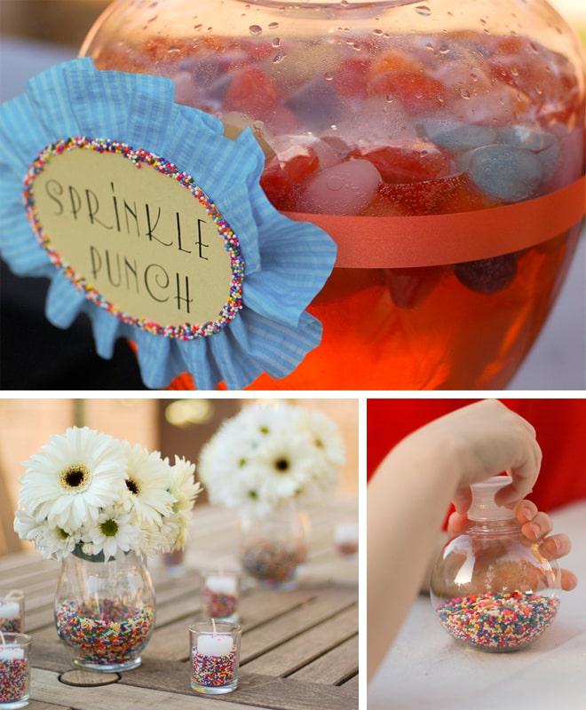 sprinkles themed birthday party 6