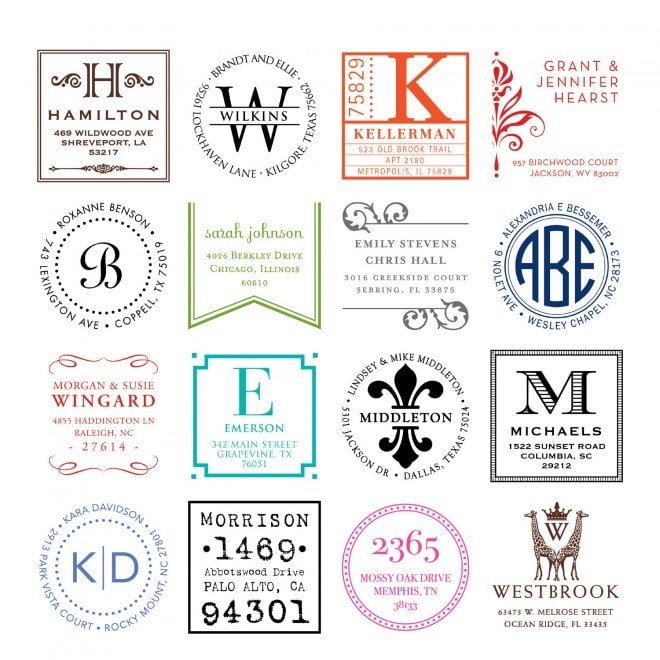 custom stamps by three designing women