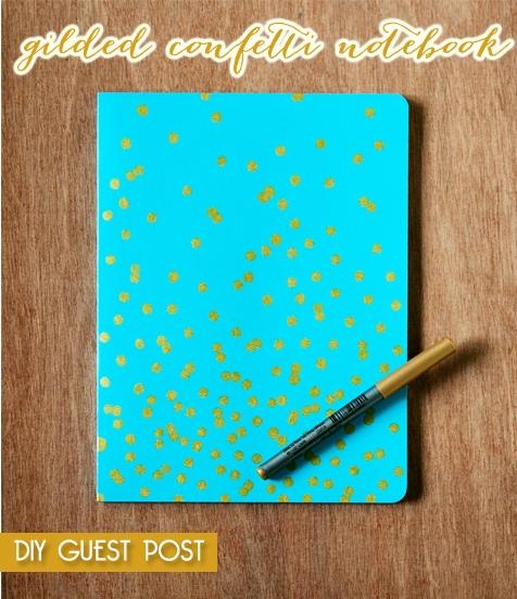 DIY TUTORIAL gilded confetti notebook