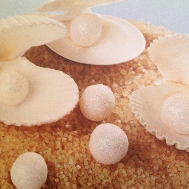 seashell pearls in candy making for kids
