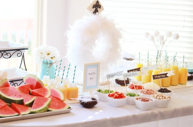 Empty Nester's Party: DIY Omelette Bar!