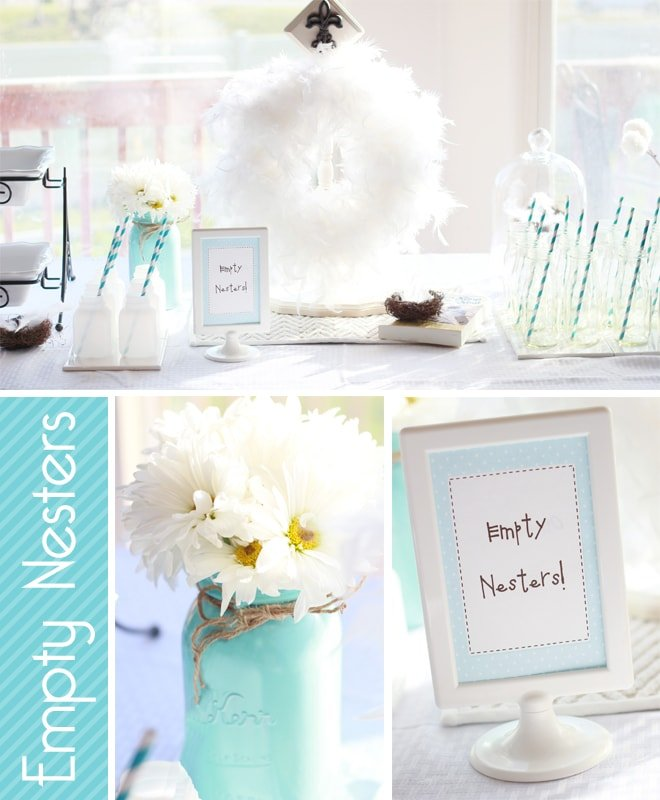 empty nesters breakfast bar party