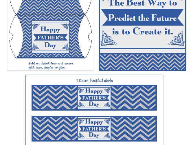 Free Father's Day Chevron Printables