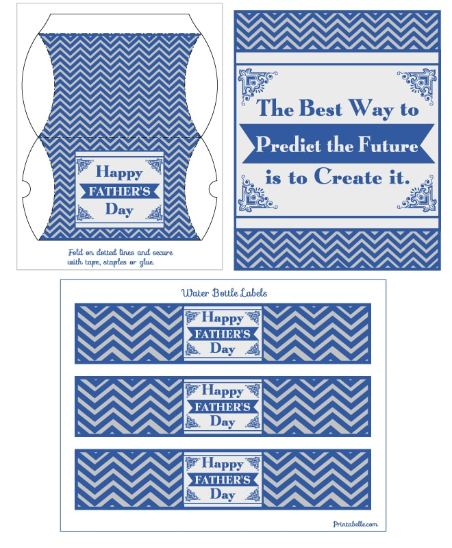 father's day chevron free printable card 2