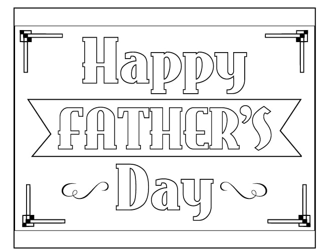 father's day free coloring book page download
