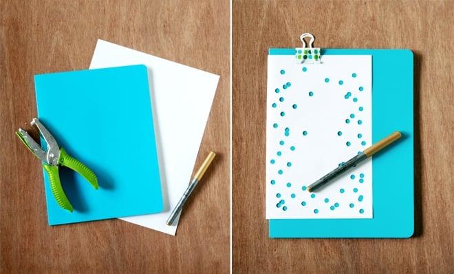 gilded confetti notebook diy 3