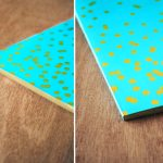 gilded confetti notebook diy 4