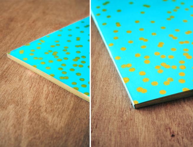 gilded confetti notebook diy 4