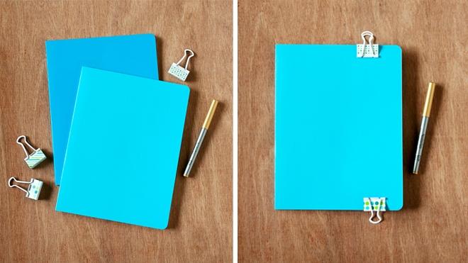 gilded confetti notebook diy