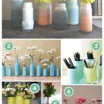 diy glass jar bottles decor