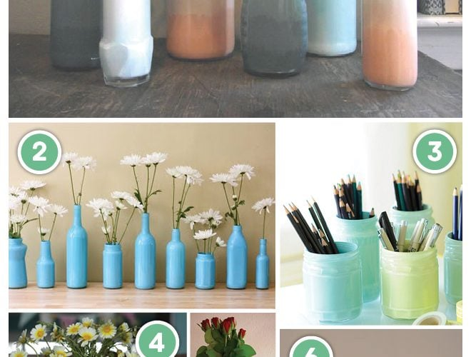 DIY: Painting Glass Jars + Bottles!
