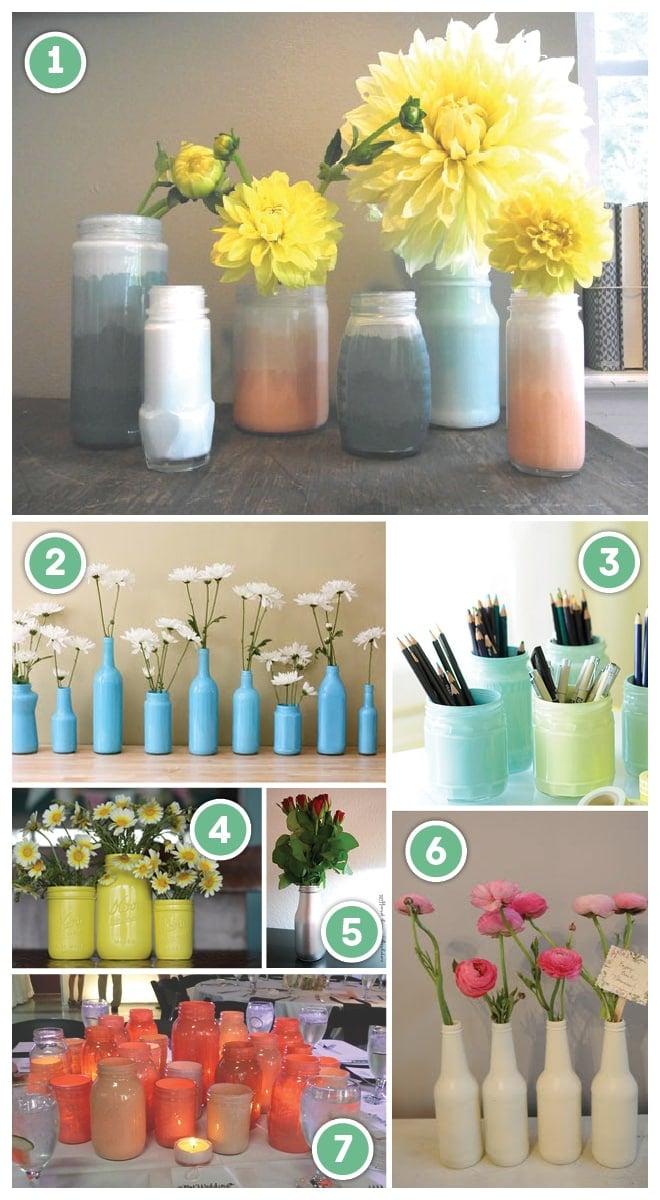 DIY: Painting Glass Jars + Bottles!