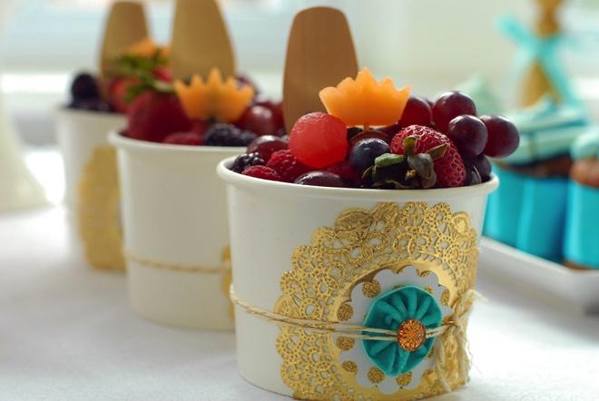 sweet dessert details from mother goose dessert table
