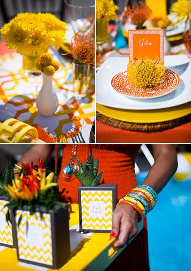 tangerine poolside party