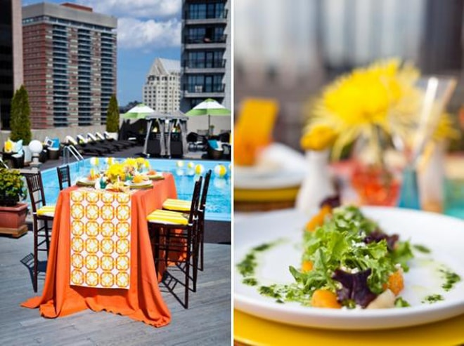 Bold + Chic Summer Party Style: A Tangerine Poolside Soiree!