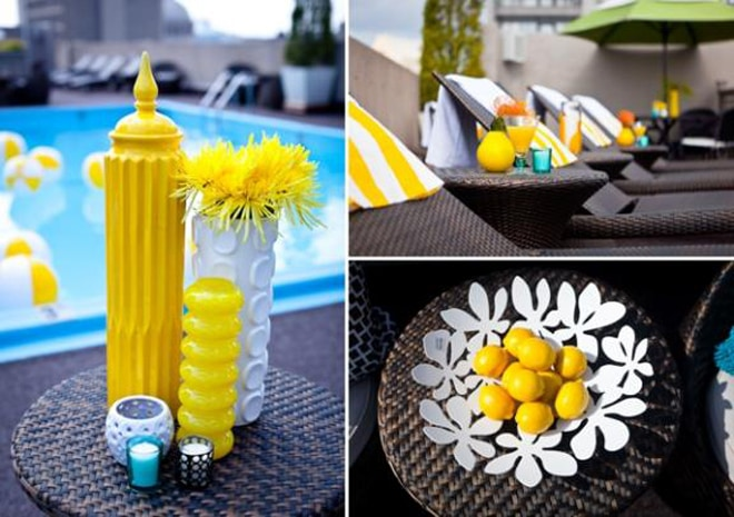 yellow event and party decor