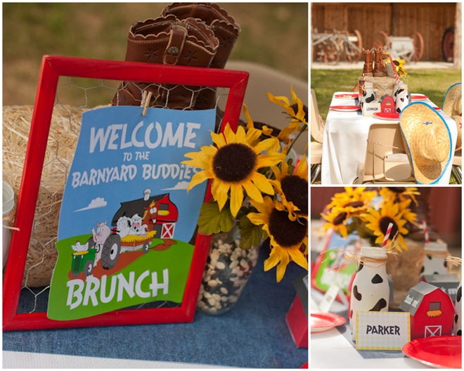 Barnyard Buddies Kids Table