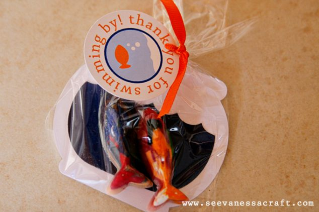 gold fish party favors