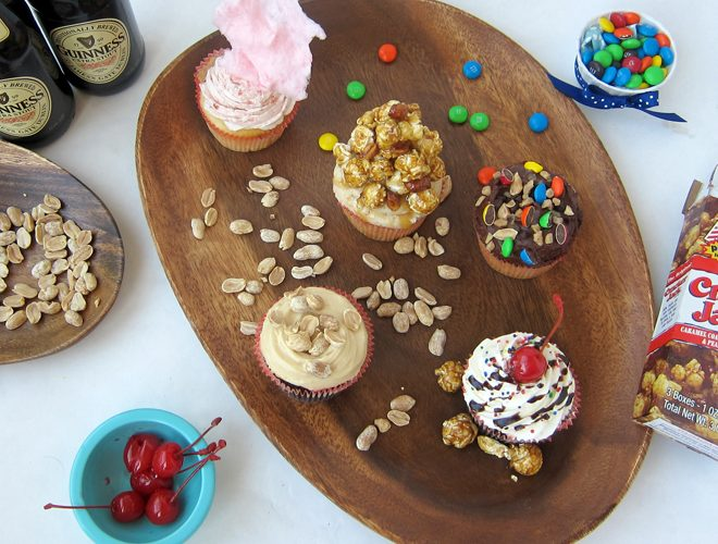 {Recipes} BALLPARK Cupcakes!