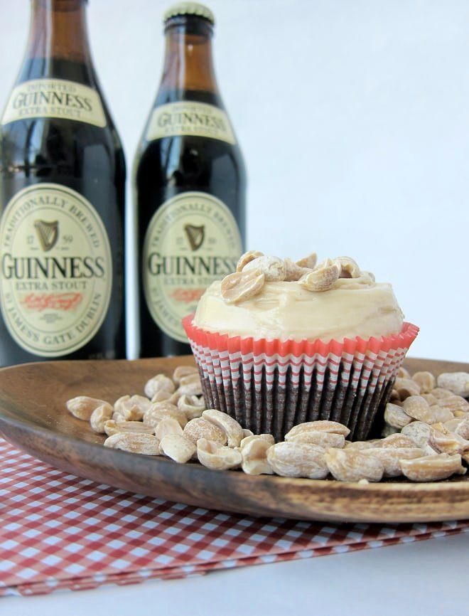 beer and nuts stout cupcake